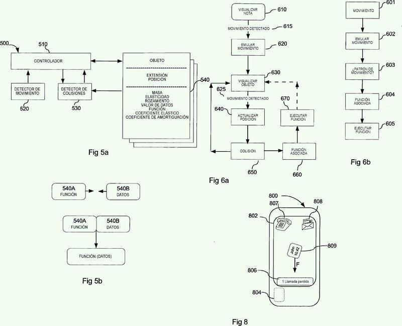 Interfaz de usuario mejorada que tiene efectos físicos realistas.