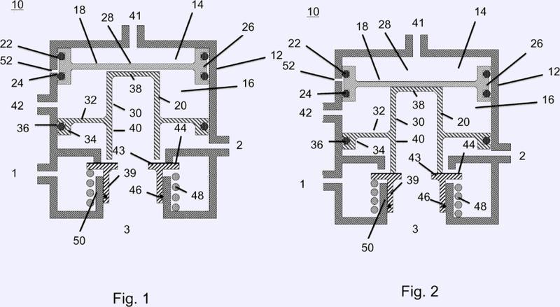 Válvula relé múltiple así como un sistema de frenado neumático con al menos una válvula relé múltiple.