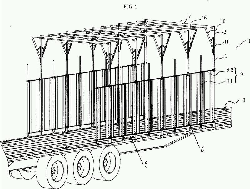 Estructura protectora, en particular de un espacio de carga, tal como una plataforma de camión, de remolque o similar, y protector que integra dicha estructura.
