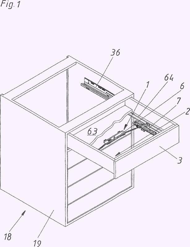 Dispositivo de accionamiento para el movimiento de una parte de mueble móvil.