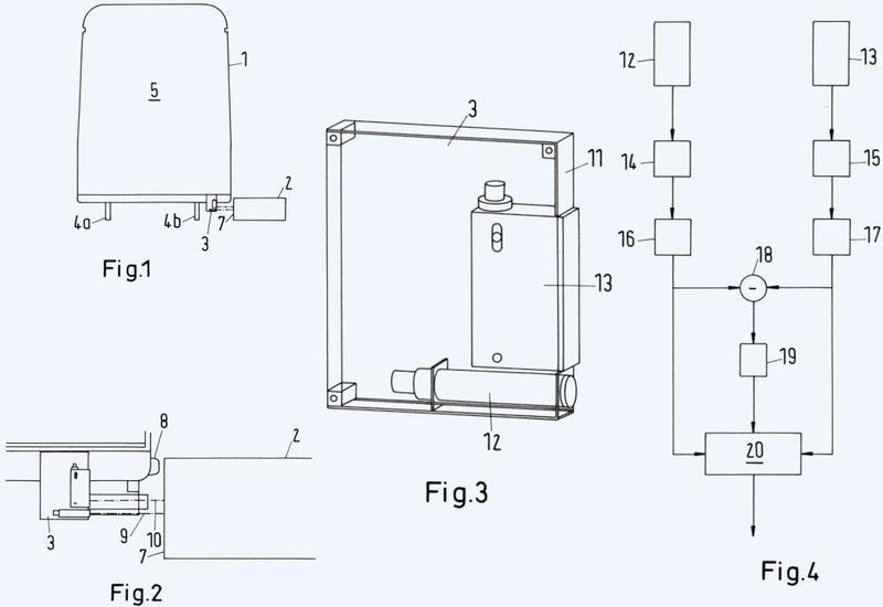 Procedimiento y disposición para medir separaciones de un vehículo ferroviario con respecto a objetos dispuestos lateralmente al vehículo ferroviario.
