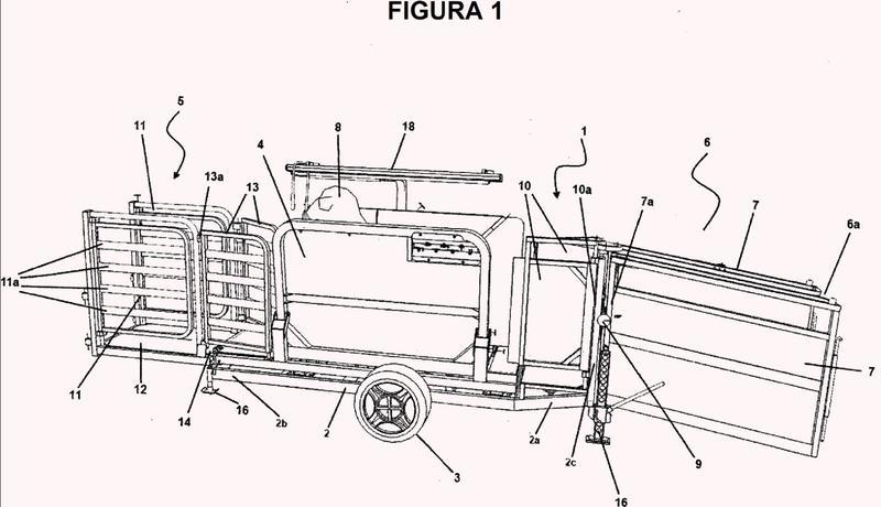 Un sistema transportable de manejo de animales y método para usar el mismo.