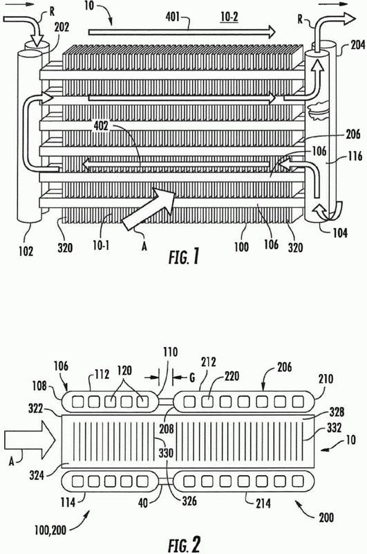 Unidad de intercambio de calor con varios bancos de tubos con un conjunto de colector.