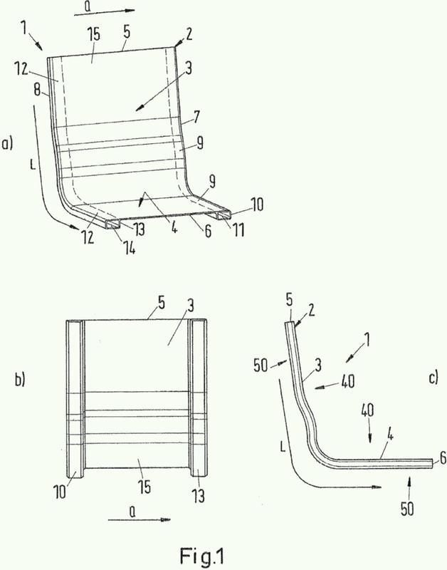 Armazón de asiento y método para producir un armazón de asiento.