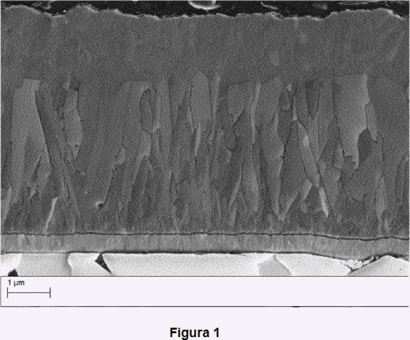 Herramienta de corte con capa de alúmina texturizada.