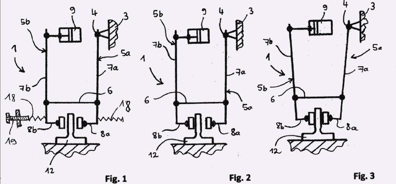 Ascensor con dispositivo de freno a modo de freno de pinza.