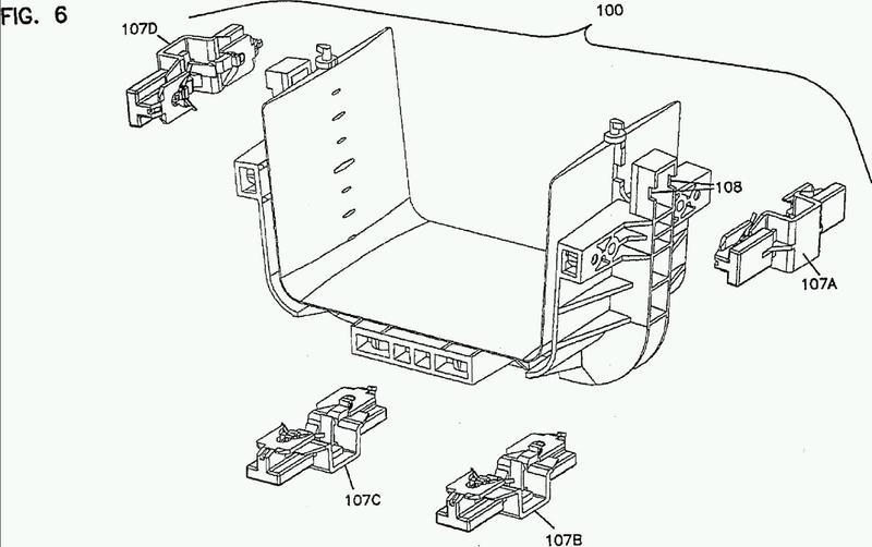 Acoplador para canaleta para cables.