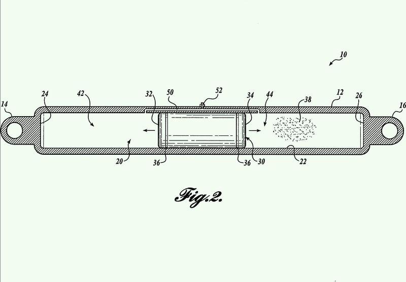 Supresión de vibración de tren de aterrizaje ajustable.
