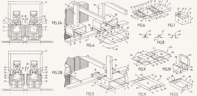 Procedimiento y dispositivo de colocación de refuerzos sobre un recorte de embalaje de cartón.
