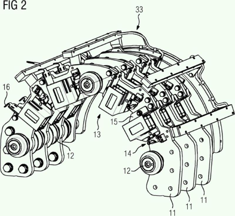 Transmisión giratoria que produce un contacto, para la conducción de energía eléctrica.