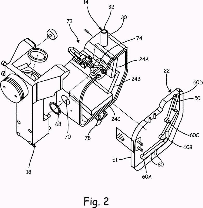 Colector de corriente en chorro para una máquina de corte por chorro de fluido.