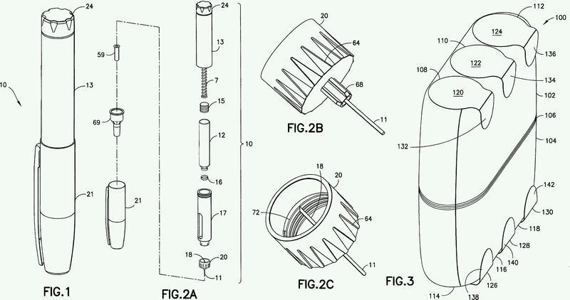 Conjunto de almacenamiento de agujas de inyección.