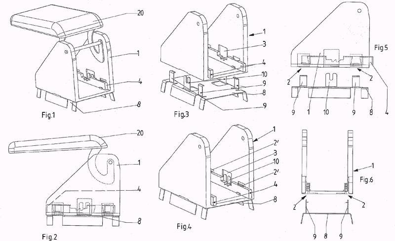Dispositivo para la fijación de un elemento de equipamiento de un automóvil.