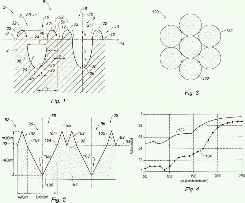 Absorbedor solar térmico con estructura de superficie y su procedimiento de producción.