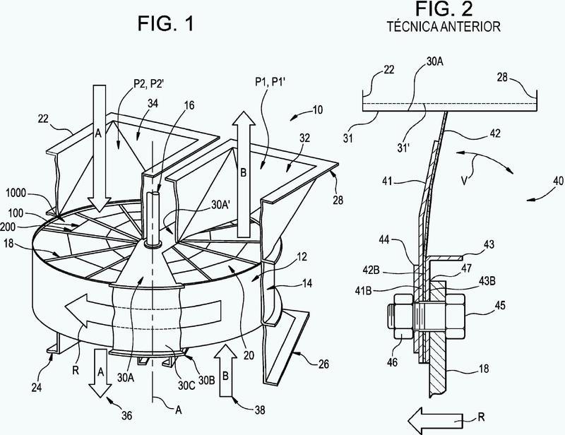 Junta flexible para un precalentador regenerativo rotativo.