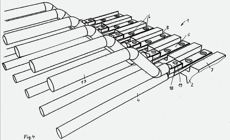 Cinta de varillas para transportador de cinta de varillas de máquinas agrícolas.