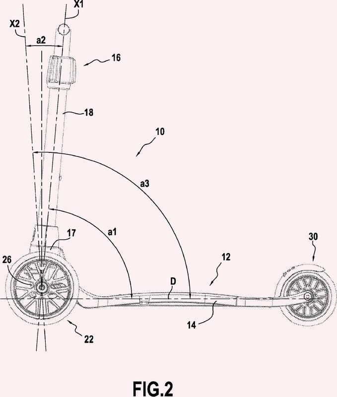 Vehículo con columna de dirección inclinada.