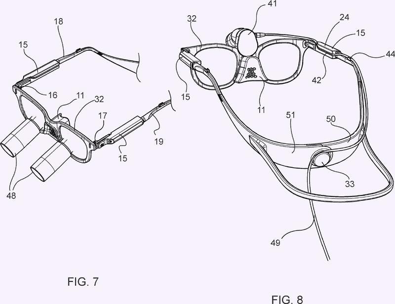 Sistema de gafas resistente al resbalamiento.