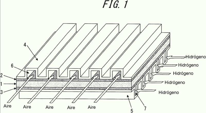 Chapa de acero inoxidable para separadores de pila de combustible y método para producir la misma.