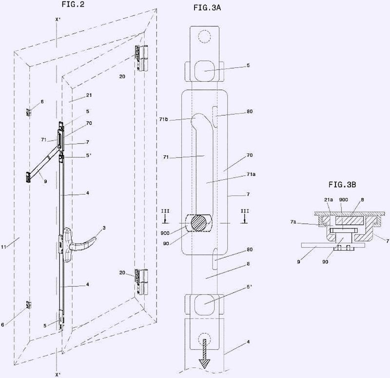 Dispositivo para la apertura o el cierre de una ventana, con un elemento de tope para la hoja de guillotina en la posición abierta.