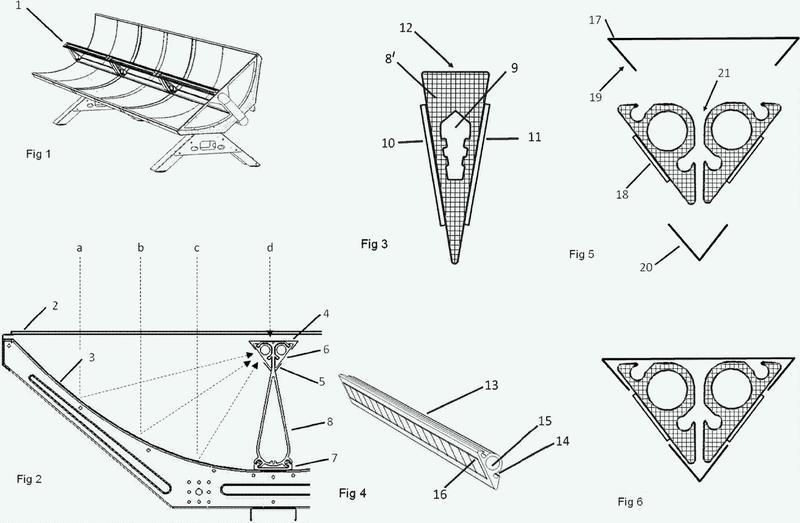 Receptor para sistemas de energía solar FV/T.