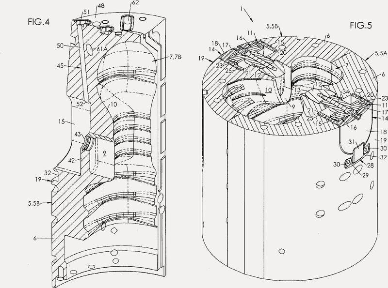 Unidad de moldeado de recipientes, equipada con un dispositivo de cajeado de compacidad incrementada.