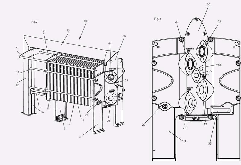 Intercambiador de calor de placas.