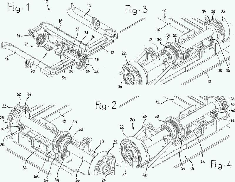 Tren remolcador con mecanismo elevador.