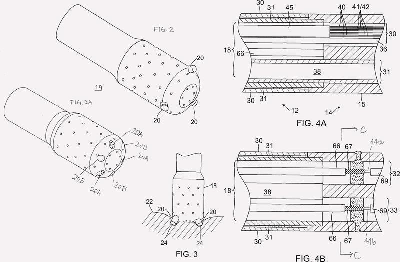 Catéter adaptado para contacto directo con el tejido.