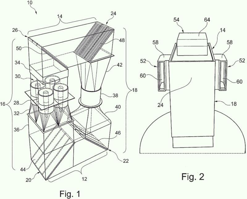 Dispositivo de ventilación para un túnel de viento vertical cerrado.