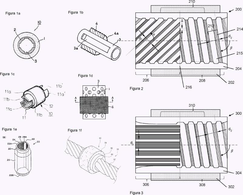 Manguito metálico para soportar la capa abrasiva de una perla de sierra en un cable de sierra y método para su producción.