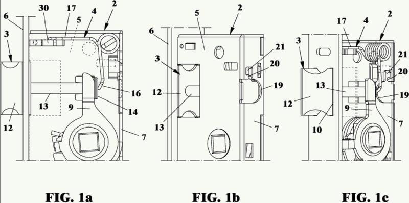 Cerradura de pestillo con dirección de apertura modificable.