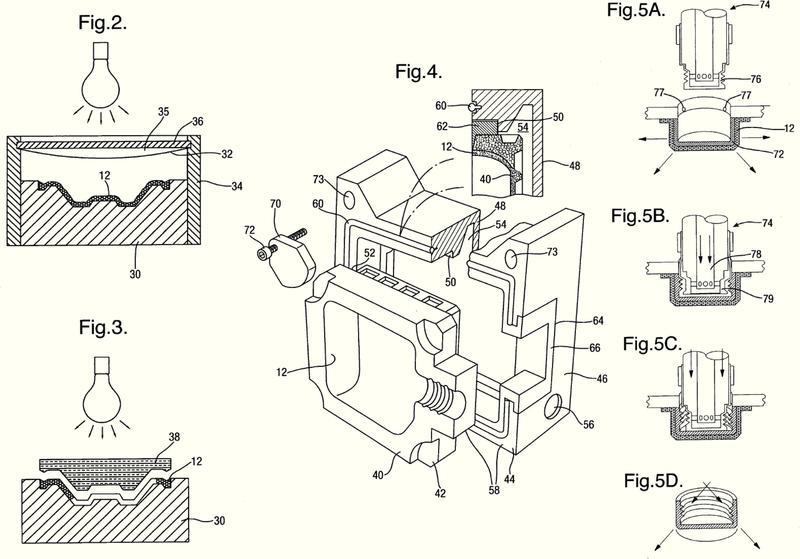 Procedimiento y maquina para formar un artículo moldeado.