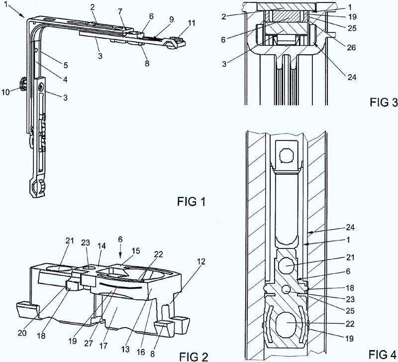 Elemento de sujeción de una pieza de herraje de un herraje de barra conductora.