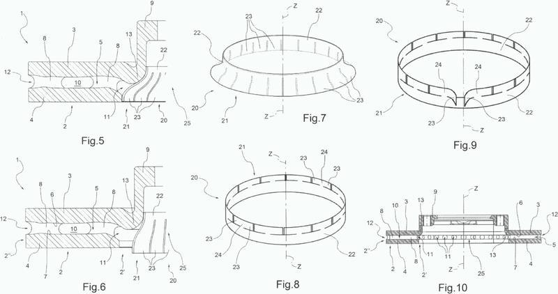 Disco para un freno de disco del tipo ventilado, dispositivo y método para mejorar la eficiencia de un disco para un freno de disco del tipo ventilado.