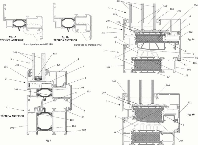 Sistema de carpintería de aluminio con aislamiento térmico mejorado.