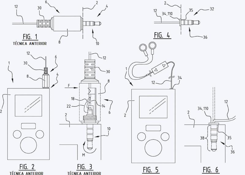 Conjunto de un cable de conexión y un dispositivo de conexión y método de ensamblado del mismo.