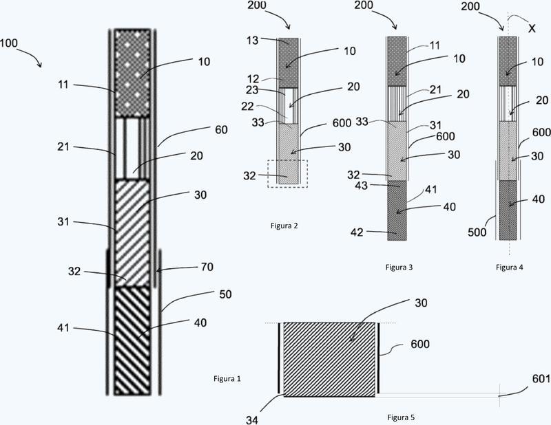 Artículo formador de aerosol multicomponente.