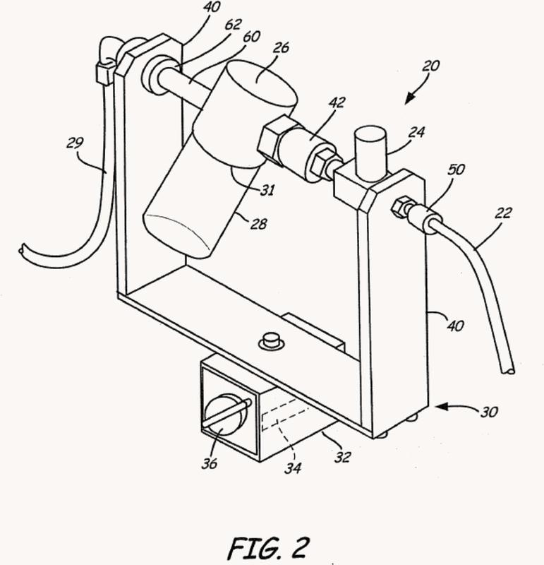 Muestreador de líquido de botella de auto lavado en línea.