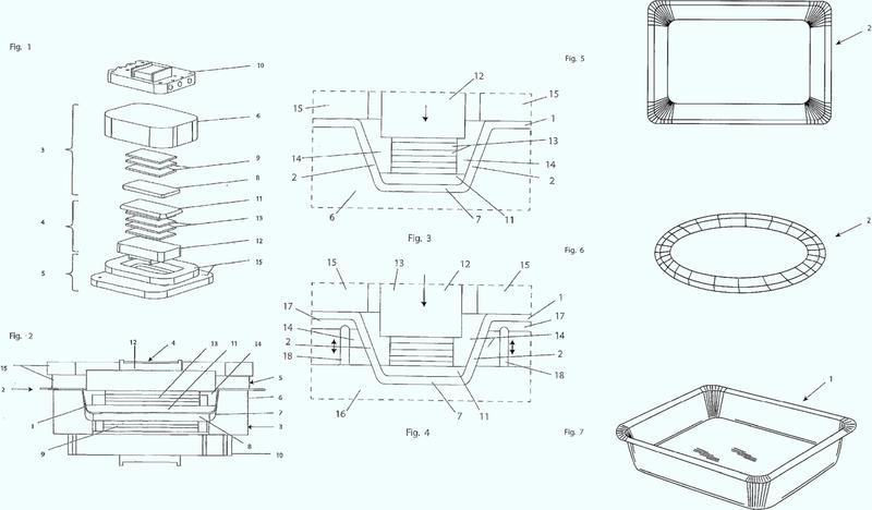 Método y aparato para la embutición profunda de una bandeja a partir de un material de lámina.