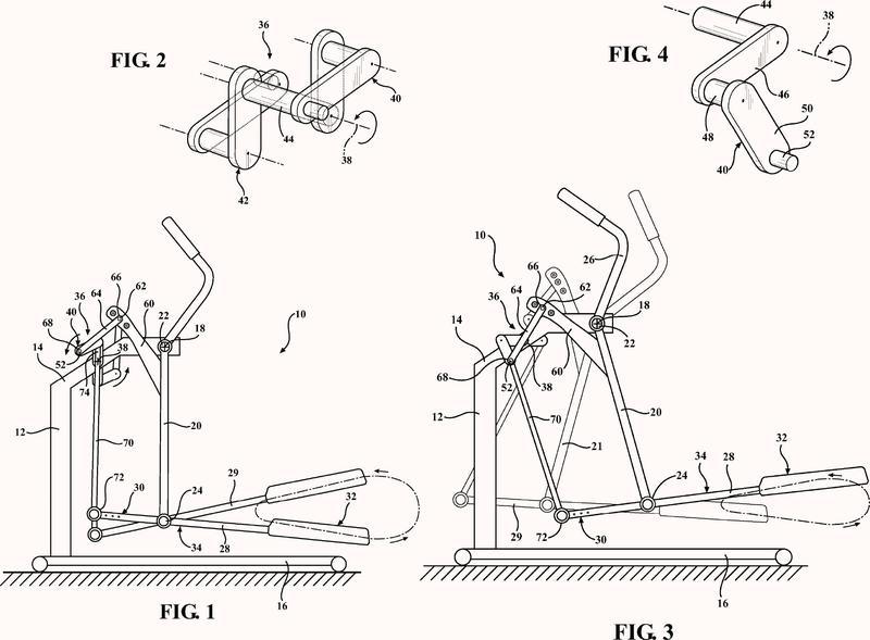 Dispositivo de ejercicio elíptico.