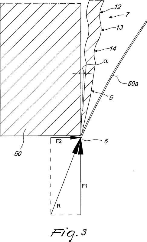 Cuchilla accionable rotatoriamente, particularmente para cortadoras industriales automáticas.