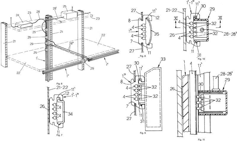 Carril electrificado, en particular para la alimentación de unidades de estanterías de metal, y procedimiento para su fabricación.