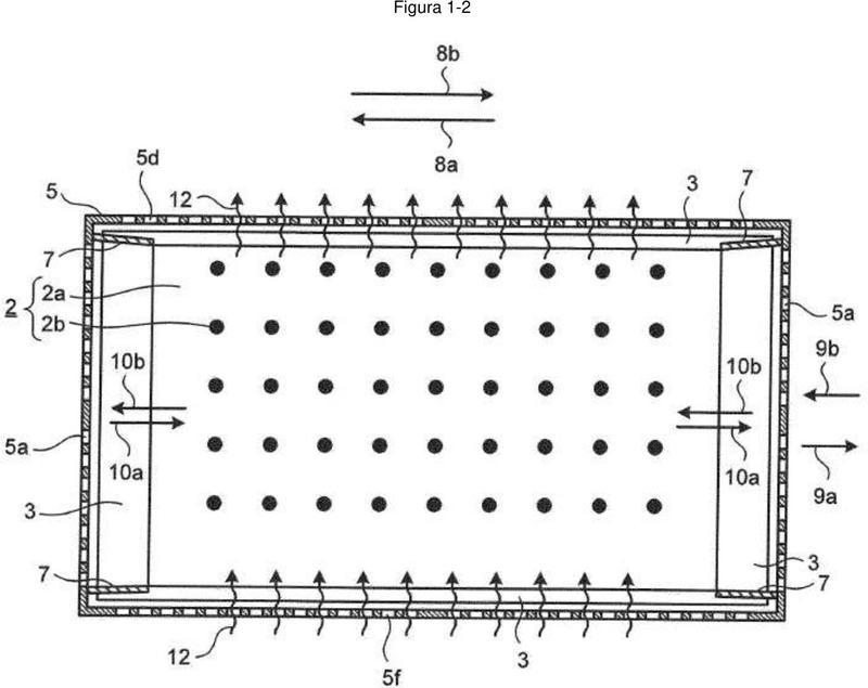 Dispositivo de refrigeración para un dispositivo dispuesto debajo del piso para un vehículo.