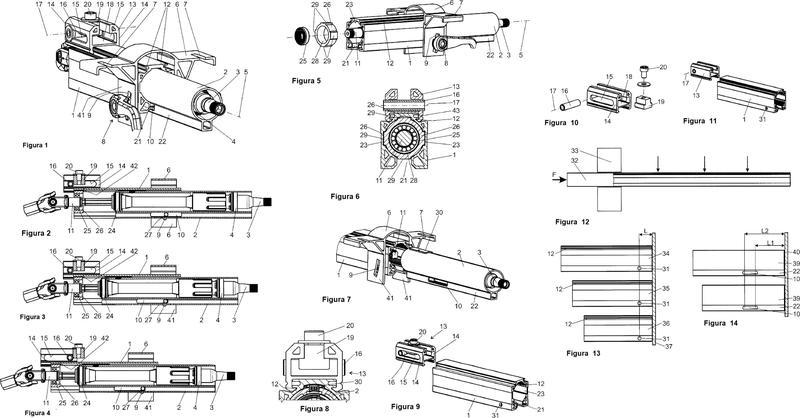 Procedimiento de fabricación para una columna de dirección modular con perfiles de extrusión.