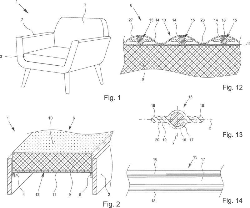 Funda para un colchón o un cojín, así como colchón o cojín con una funda de este tipo.