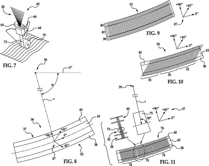 Método para producir estructuras de material compuesto contorneadas.