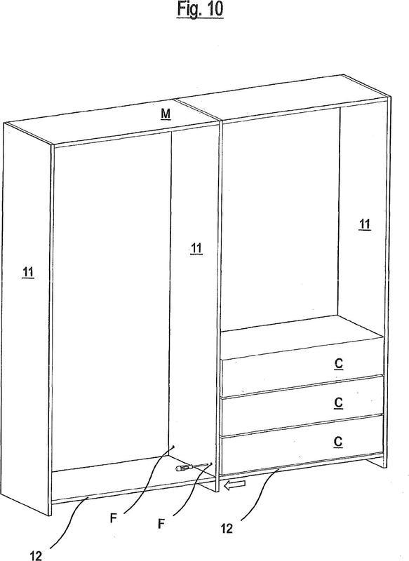 Dispositivo de unión con amplia accesibilidad para partes de mueble y elementos de decoración.
