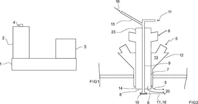 Método para controlar el equilibrio térmico del eje de reacción de un horno de fundición en suspensión.