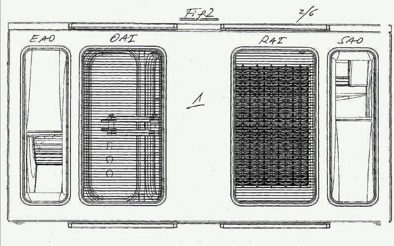 Unidad de ventilación compacta con recuperación de calor.